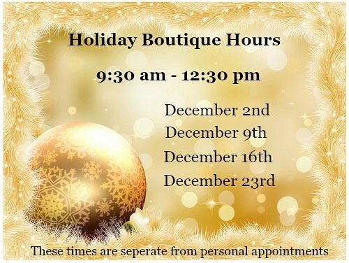 Aspasia's Studio & Boutique in Campbellville - Holiday Hours 2017