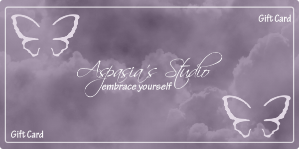 Gift Cards are available for purchase at Aspasia's Studio & Boutique, Campbellville, Ontario - Spa Services, Waxing & More