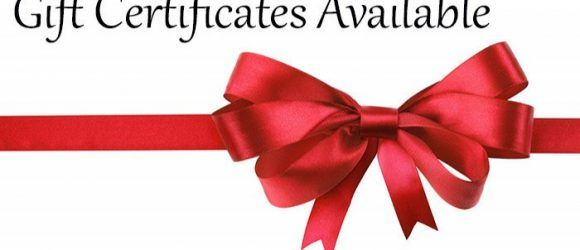 Gift Certificates are available at Aspasia's Studio & Boutique in Campbellville