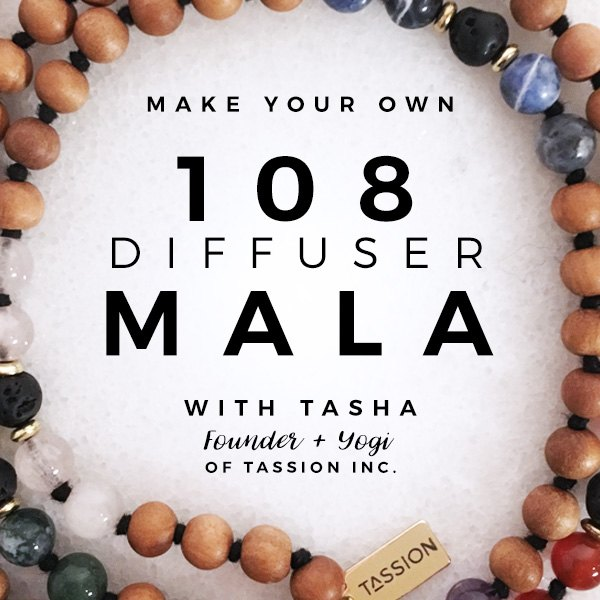 108 Diffuser Mala Workshop with Tasha of Tassion Inc. at Aspasia's Studio in Campbellville